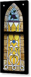 Brown Stained Glass Window Acrylic Print by Thomas Woolworth