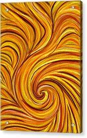 Brown Swirl Acrylic Print by Hakon Soreide