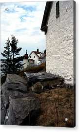 Browns Head Lighthouse Acrylic Print by Skip Willits