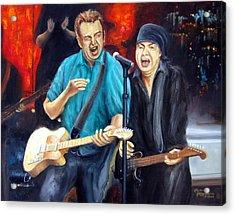 Bruce And Steven At The Apollo Acrylic Print by Leonardo Ruggieri