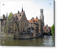 Brugge. Belgium. Spring 2011 Acrylic Print by Ausra Huntington nee Paulauskaite
