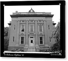 Brunswick Historical Court House Acrylic Print by Rebecca Stephens