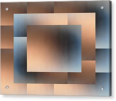 Brushed 01 Acrylic Print by Tim Allen