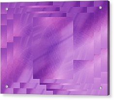 Brushed Purple Violet 7 Acrylic Print by Tim Allen