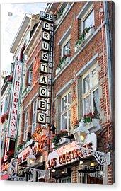 Brussels - Place Sainte Catherine Restaurants Acrylic Print by Carol Groenen