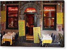 Brussels - Restaurant Savarin Acrylic Print by Carol Groenen