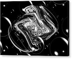 Bubble Blast Acrylic Print by Karen M Scovill