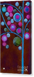Bubble Tree - W02d - Left Acrylic Print by Variance Collections