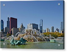 Buckingham Fountain Chicago Acrylic Print by Christine Till
