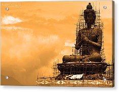 Buddha Acrylic Print by Kalpesh Shah