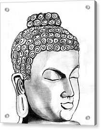 Buddha Acrylic Print by Shashi Kumar