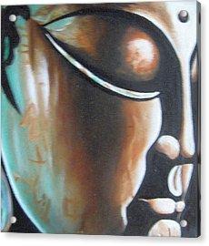 Buddha Acrylic Print by Usha Rai