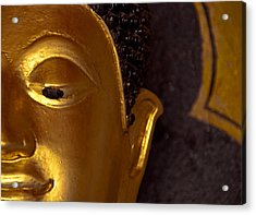 Buddha's Face Acrylic Print by Preston Coe