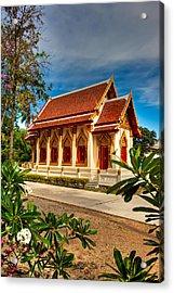 Buddhist Temple Acrylic Print by Adrian Evans
