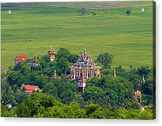 Buddist Temple Acrylic Print by David Freuthal