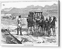 Buffalo Hunting, 1874 Acrylic Print by Granger