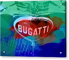 Bugatti Badge Acrylic Print by Naxart Studio