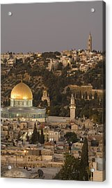 Built Atop The Earlier Location Acrylic Print by Richard Nowitz