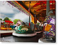 Bumper Cars Acrylic Print by Terri Waters
