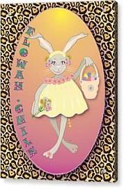 Bunnie Girls- Flowah Chile 1 Of 4  Acrylic Print by Brenda Dulan Moore