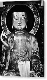 Burning Incense In A Buddhist Temple Sha Tin Hong Kong China Acrylic Print by Joe Fox