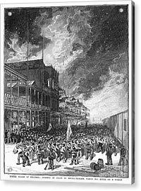 Burning Of Colon, 1885 Acrylic Print by Granger