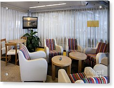 Business Lounge At An Airport Acrylic Print by Jaak Nilson