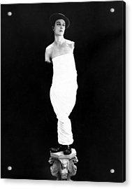 Buster Keaton, Ca. Early 1920s Acrylic Print by Everett