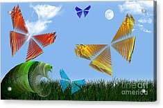 Butterflies Are Free To Fly Acrylic Print by Andee Design