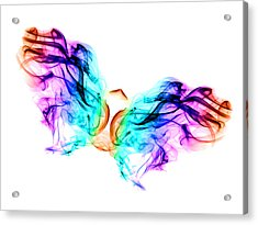 Butterfly In Smoke Acrylic Print by Alice Gosling