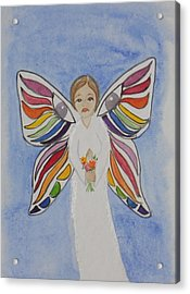Butterfly People Sympathy Acrylic Print by DJ Bates