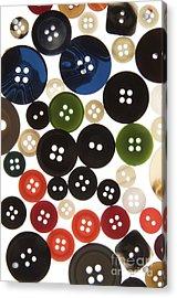 Buttons Acrylic Print by Bernard Jaubert