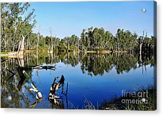 By The River Acrylic Print by Kaye Menner
