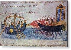 Byzantine Sailors  Acrylic Print by Photo Researchers