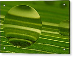 C Ribet Orbscapes Green Jupiter Acrylic Print by C Ribet