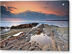 Cabasson Beach At Sunset Acrylic Print by Eric Rousset