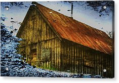 Cabin Reflect Acrylic Print by Tom Liesener