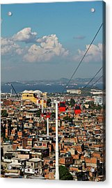 Cable Car Complex Acrylic Print by Ruy Barbosa Pinto