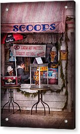 Cafe - Clinton Nj - The Luncheonette  Acrylic Print by Mike Savad