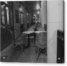Cafe Rouge Acrylic Print by Anna Villarreal Garbis