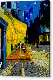 Cafe Vincent Acrylic Print by Jann Paxton