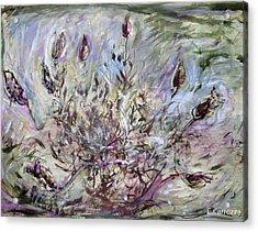 California Lavender Acrylic Print by Elizabeth Carrozza