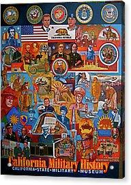 California Military History Mural Upgrade Acrylic Print by Dean Gleisberg