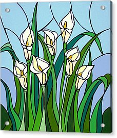 Calla Lilies Acrylic Print by JW DeBrock