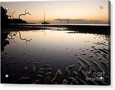 Calm Harbor At Dusk Acrylic Print by Matt Tilghman