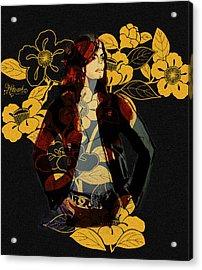 Camellia Michael Acrylic Print by Hitomi Osanai