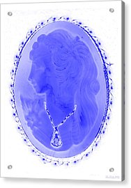 Cameo In Negative Blue Acrylic Print by Rob Hans