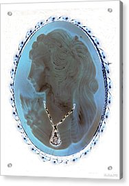 Cameo In Negative  Acrylic Print by Rob Hans