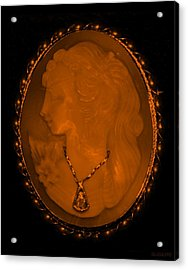 Cameo In Orange Acrylic Print by Rob Hans