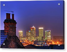 Canary Wharf Acrylic Print by Andy Linden